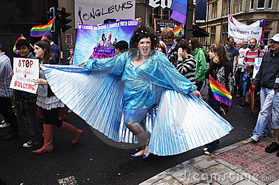 ομοφυλοφιλική υπερηφάν& Εκδοτική Στοκ Εικόνα