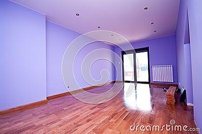 现代紫罗兰色空间