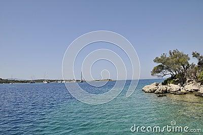 地中海的海岸线