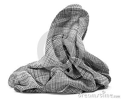 方格的围巾