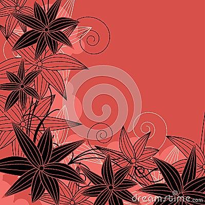 等高花卉花构成红色