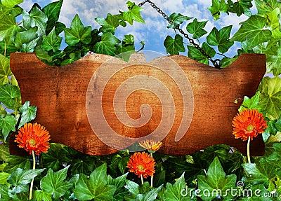 σημάδι ξύλινο
