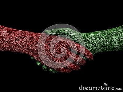 твердое тело рукопожатия