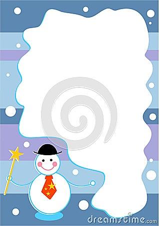 обрамите снеговик