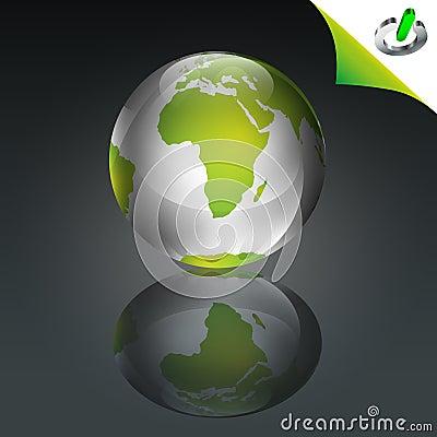 概念性地球绿色