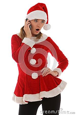购买权电话圣诞老人惊奇