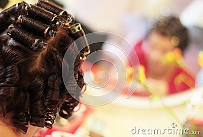 ролики волос