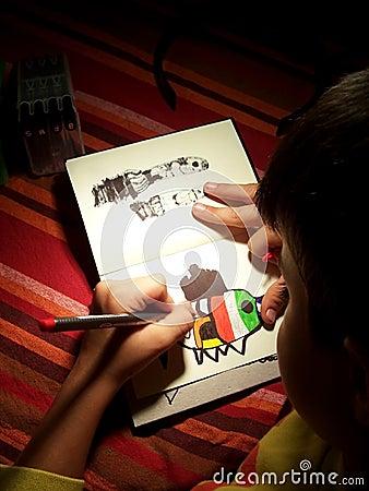 画家年轻人