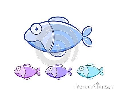 动画片鱼集 库存图片 - 图片: 21724924