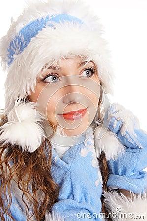 симпатичный девичий снежок