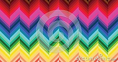 五颜六色的木条地板模式