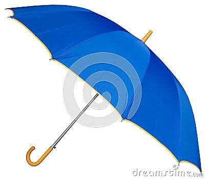 弯曲的高尔夫球把柄伞