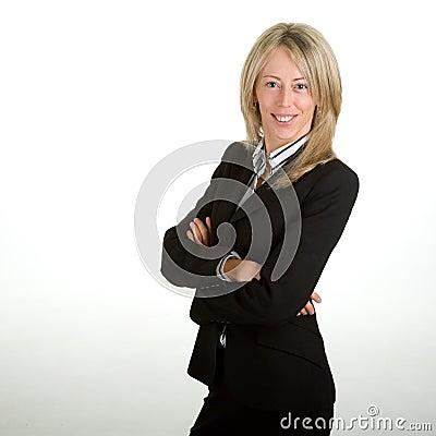 企业成功的妇女年轻人