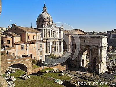 罗马的论坛 图库摄影片