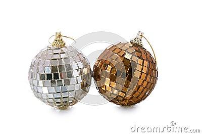 рождество шарика украшает