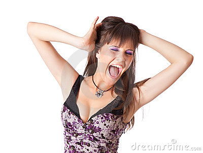 кричащая женщина