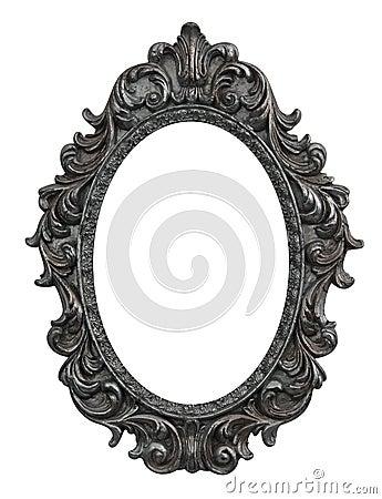巴洛克式的框架长圆形