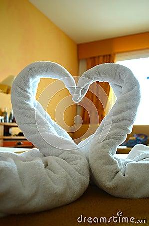 πετσέτα κύκνων