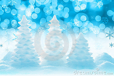 圣诞节冰冷的结构树