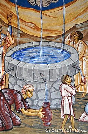 绘的神圣的水