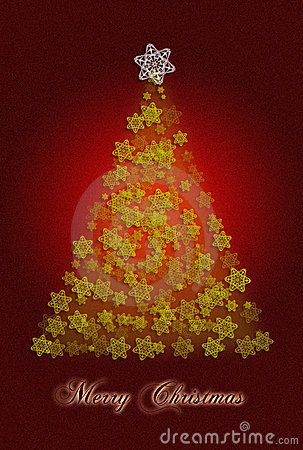 看板卡圣诞节问候结构树
