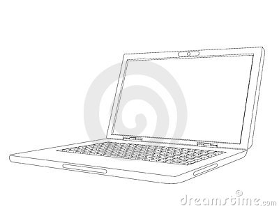 曲线膝上型计算机