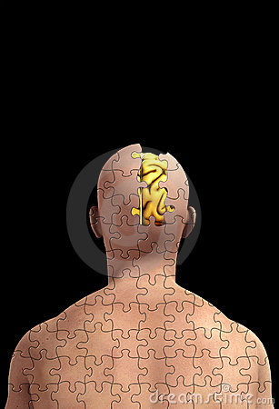 脑子头脑缺少部分