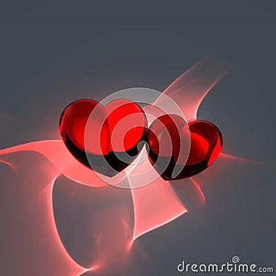 κόκκινο δύο καρδιών
