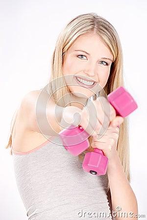 健身愉快的妇女