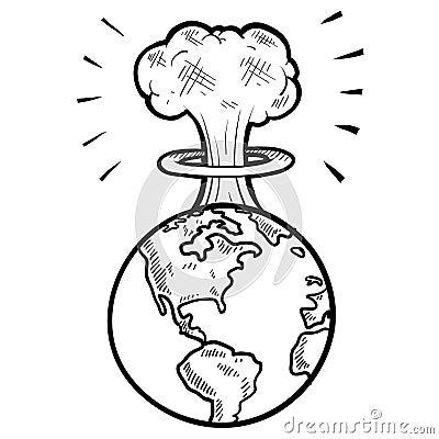 Эскиз ядерного гриба