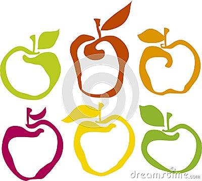 комплект яблока