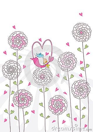 влюбленность птицы корзины