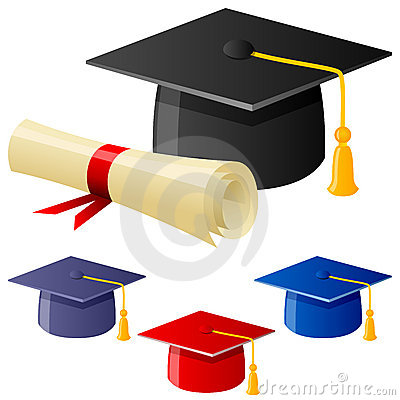 毕业帽子和文凭