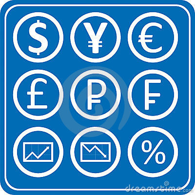 пакет икон валют финансов