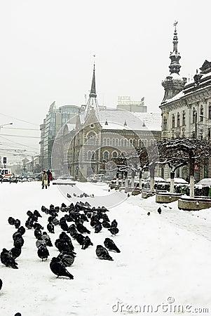 ακραίος χειμώνας της Ευρώπης Εκδοτική εικόνα