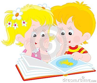 κορίτσι αγοριών βιβλίων που διαβάζεται
