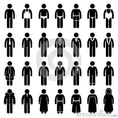 给穿衣的设计方式人样式穿戴