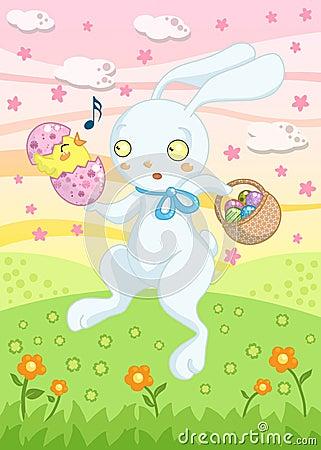 兔宝宝看板卡复活节