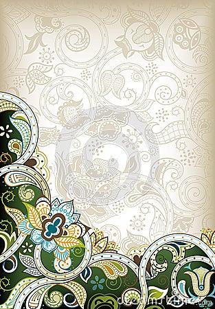 абстрактный флористический зеленый цвет