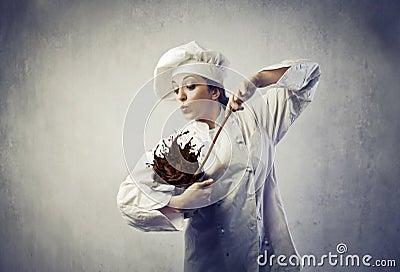 杂乱的厨师