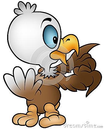 白头鹰一点