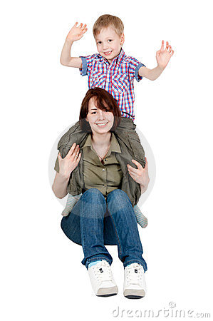 ее мама играя детенышей сынка