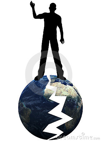中断了地球我