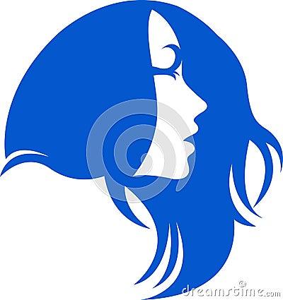 头发徽标妇女