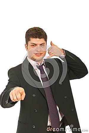ανώτερος υπάλληλος κλήσης που ευτυχής αρσενικός εγώ