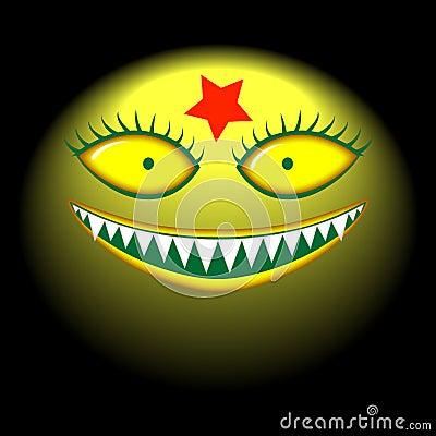 大邪恶的顶头妖怪微笑