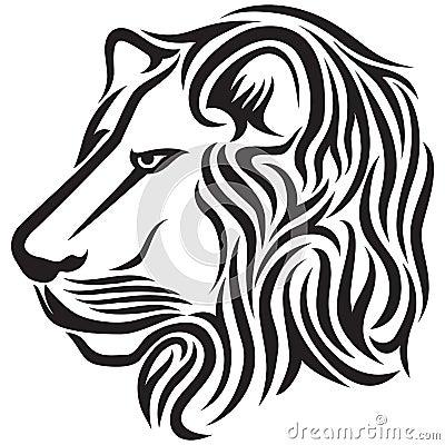 部族顶头狮子的纹身花刺