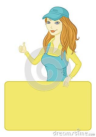 Κορίτσι με μια αφίσα