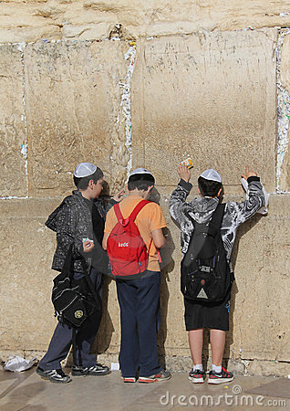 стена Израиля Иерусалима западная Редакционное Изображение