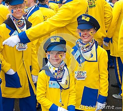 καρναβάλι Κάτω Χώρες Εκδοτική Στοκ Εικόνα